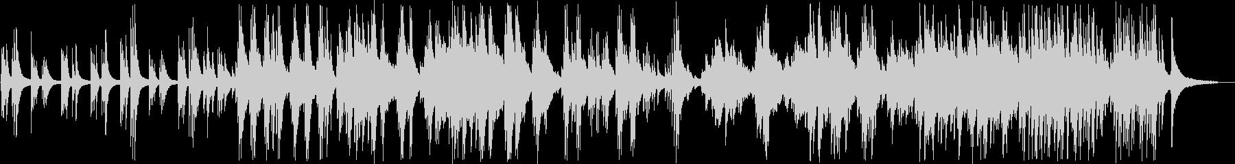 感動的なバラードのピアノソロの未再生の波形