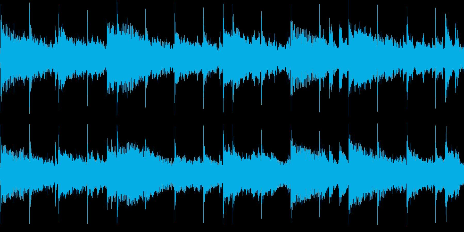 穏やかで温かいゴスペル風BGM_ループの再生済みの波形