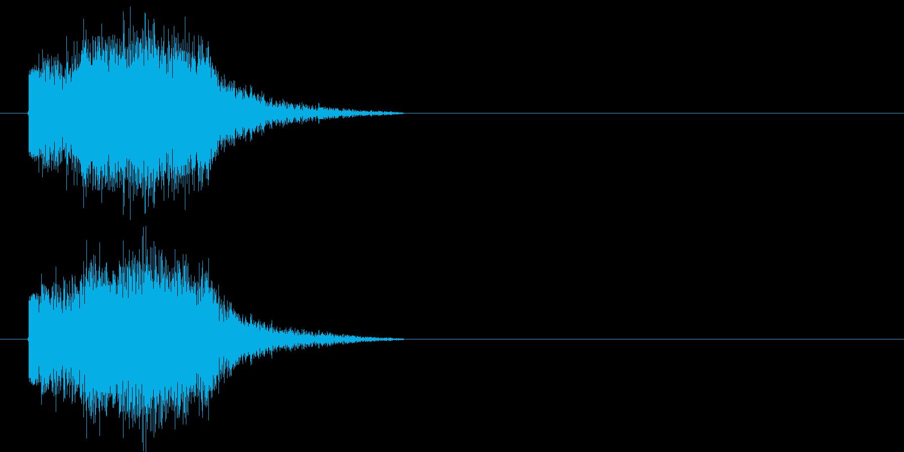 ダメージの再生済みの波形