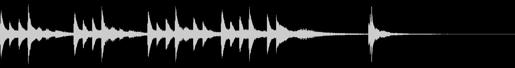 切ないピアノのジングルの未再生の波形