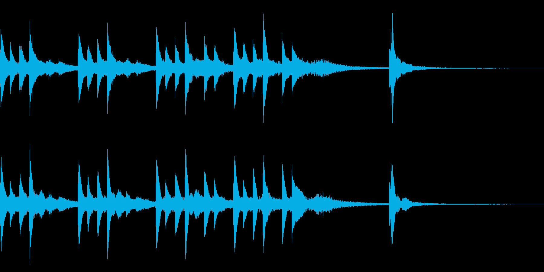 切ないピアノのジングルの再生済みの波形