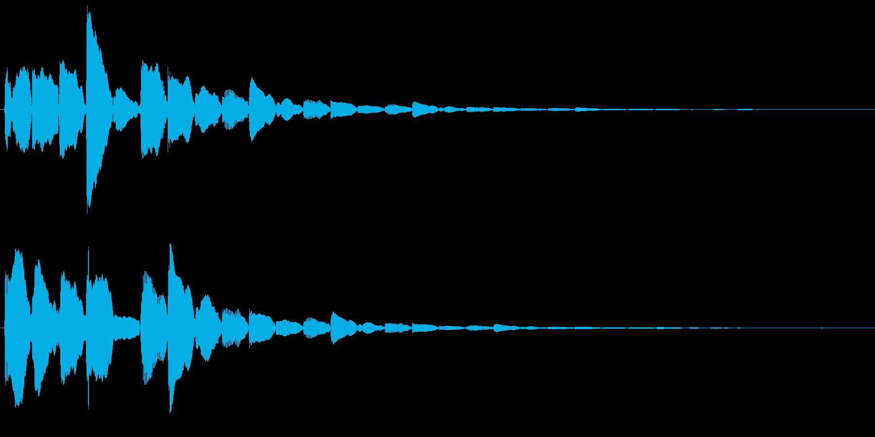 test2の再生済みの波形