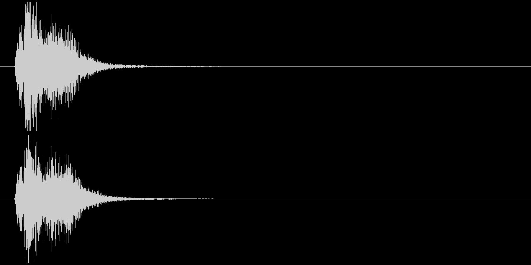効果音(C)の未再生の波形