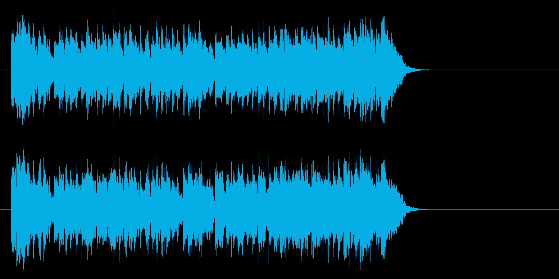 希望に満ちたポップス(サビ)の再生済みの波形