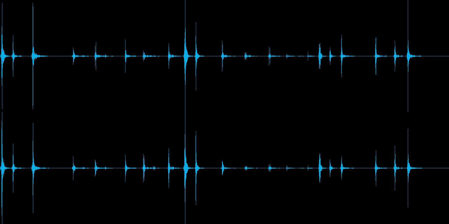 ノートパソコンのタイピングの再生済みの波形
