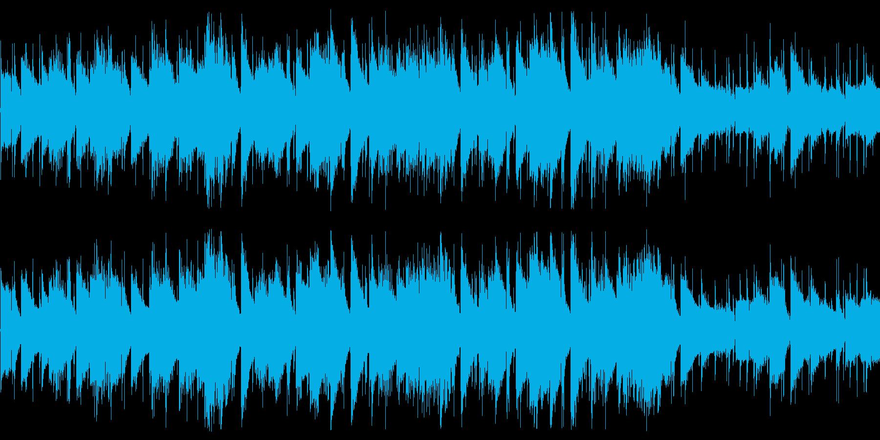 多少ジャジーな雰囲気のチップチューンの再生済みの波形