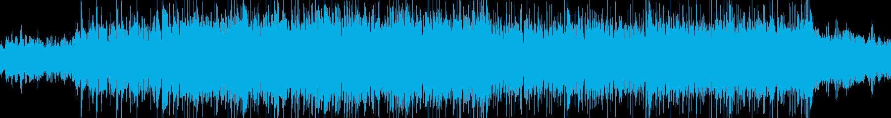 神秘的なループBGMの再生済みの波形