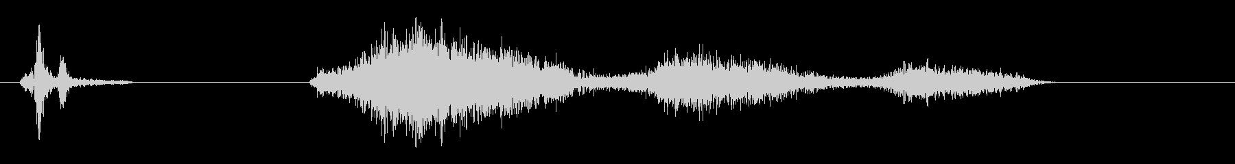 ピキュン(高音、高速、短めのアクション音の未再生の波形