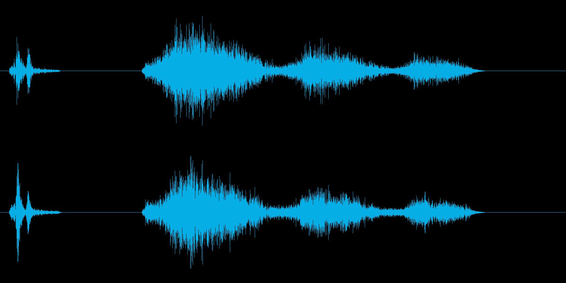 ピキュン(高音、高速、短めのアクション音の再生済みの波形