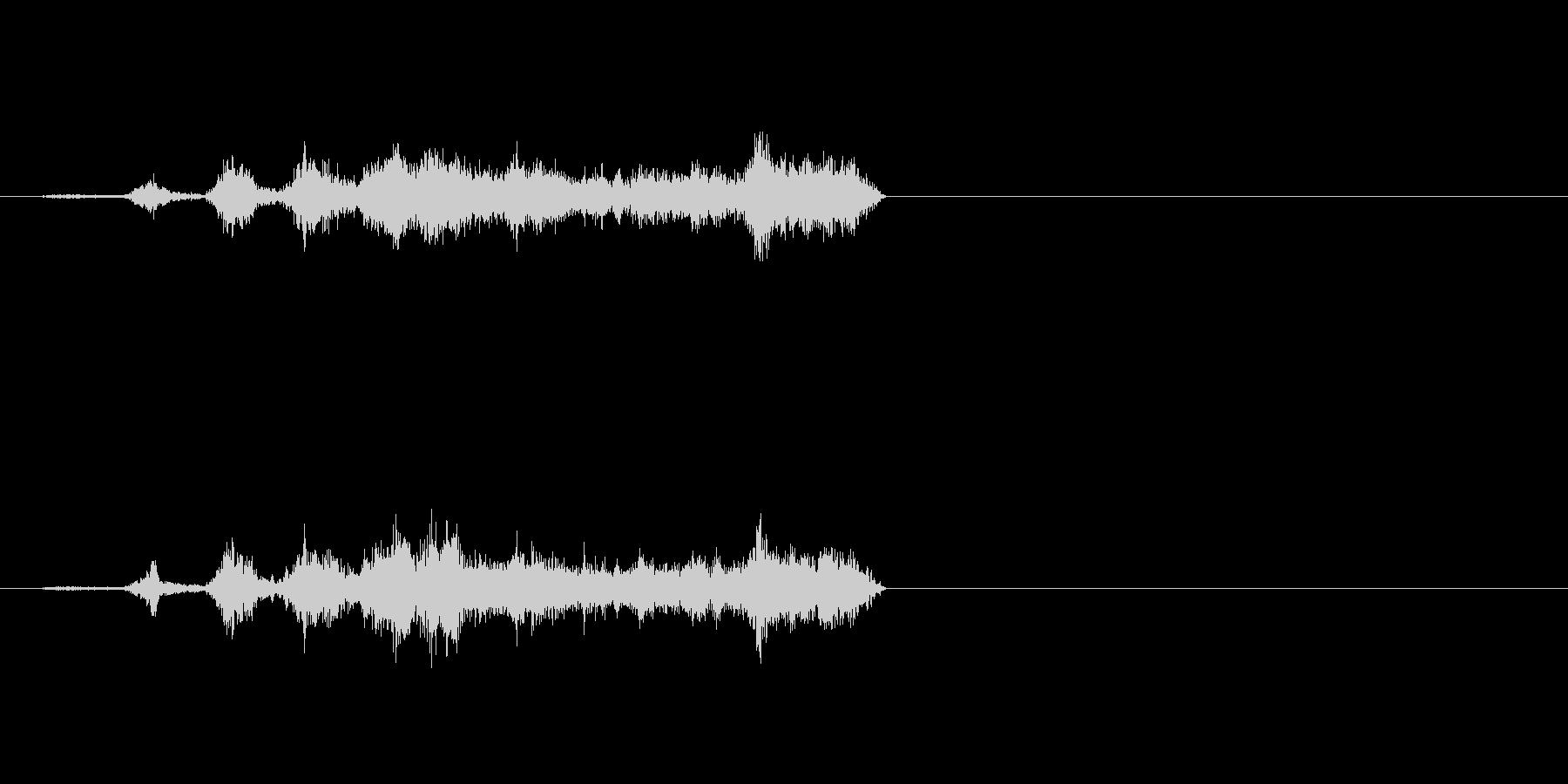 生音 三味線 コスリ 揺らしながらダウンの未再生の波形