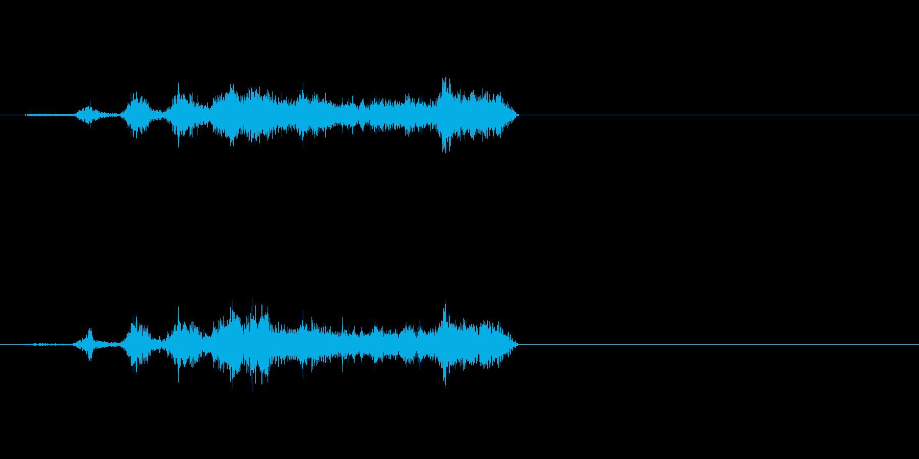 生音 三味線 コスリ 揺らしながらダウンの再生済みの波形