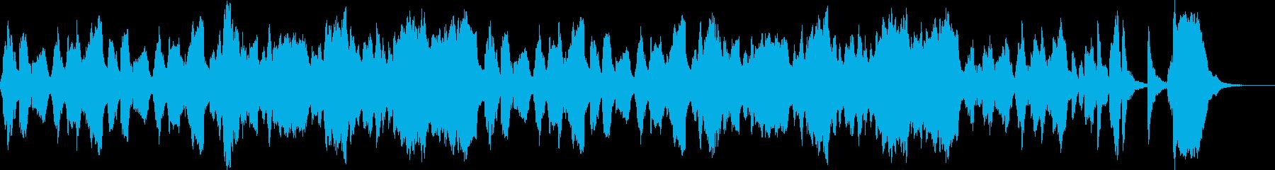 胡散臭い人のテーマ曲の再生済みの波形