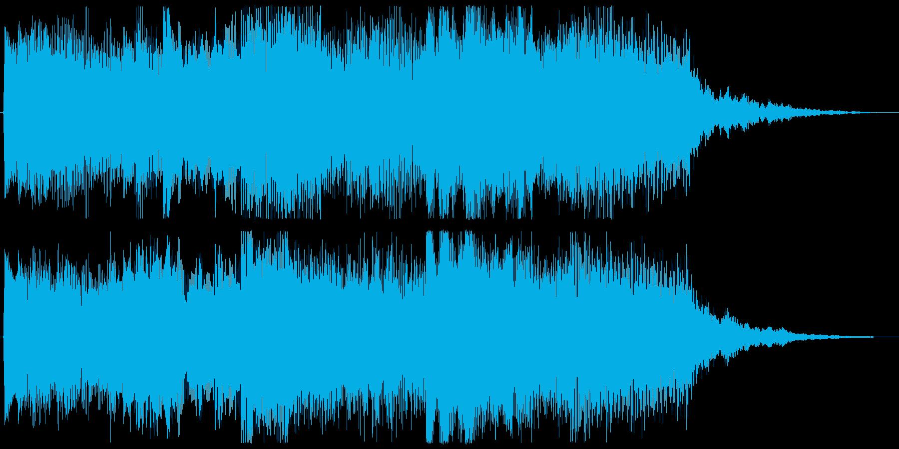 和やかなジングルの再生済みの波形