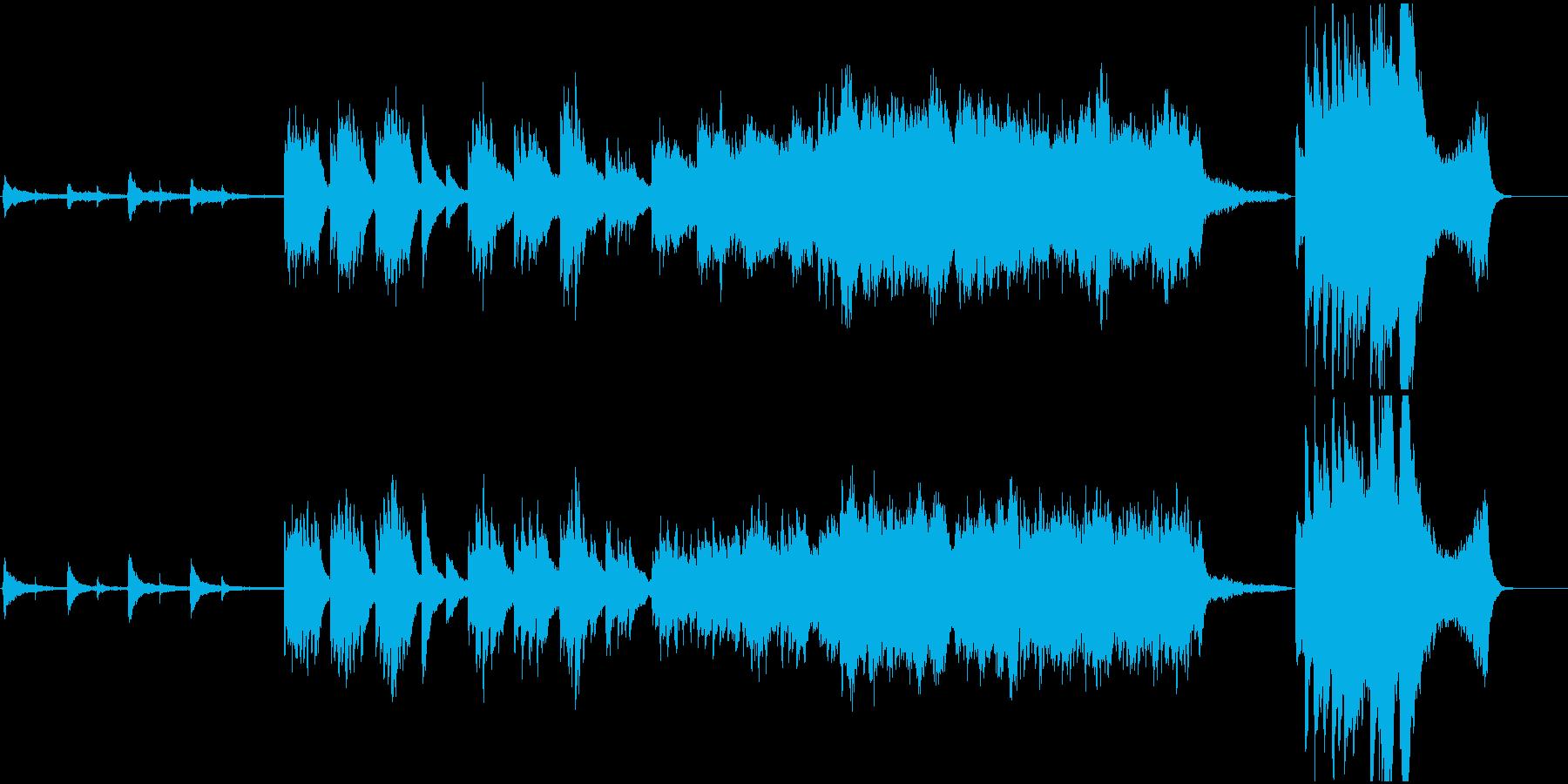 ピアノと弦のあたたかく感動的な音楽/CMの再生済みの波形