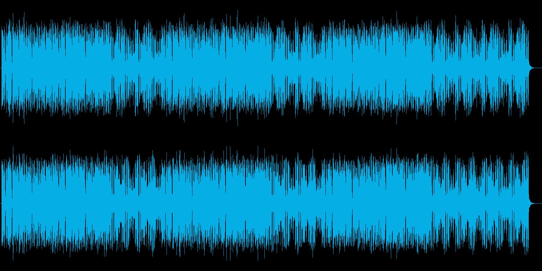 軽快で明るいメロディが特徴のポップスの再生済みの波形
