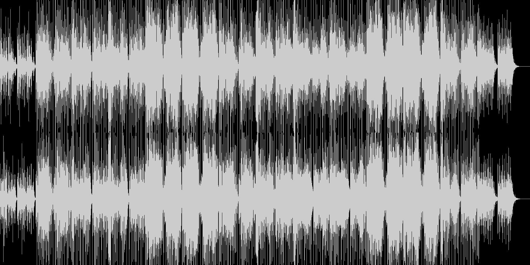 爽やかでカワイイ感じのほのぼのしたBGMの未再生の波形