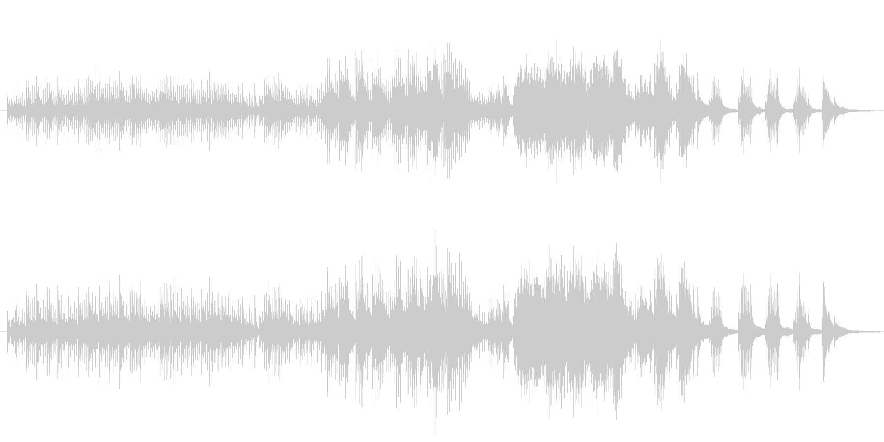 和風 桜 吹雪ナイアガラ ■ ピアノソロの未再生の波形