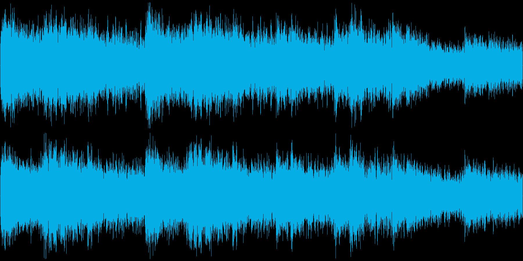 重々しい情景の楽曲の再生済みの波形