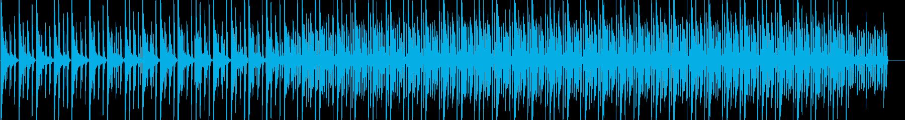 リズミカルなシンプルなピアノミニマル曲の再生済みの波形