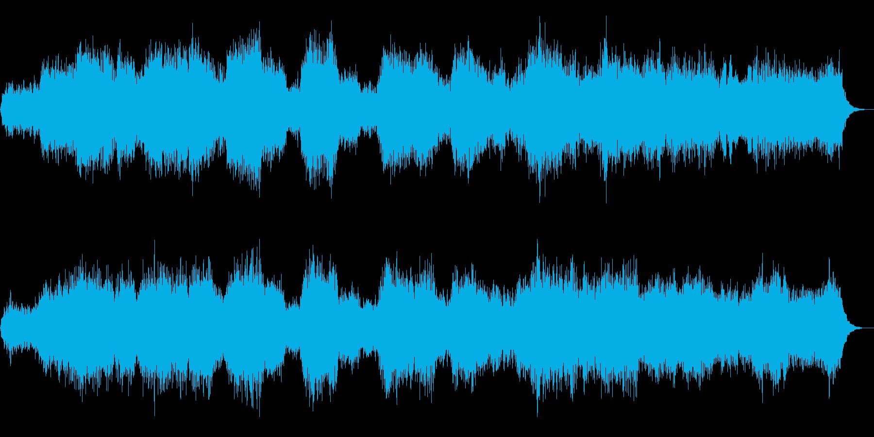 恐怖を演出 ホラー、ミステリアスな合唱の再生済みの波形