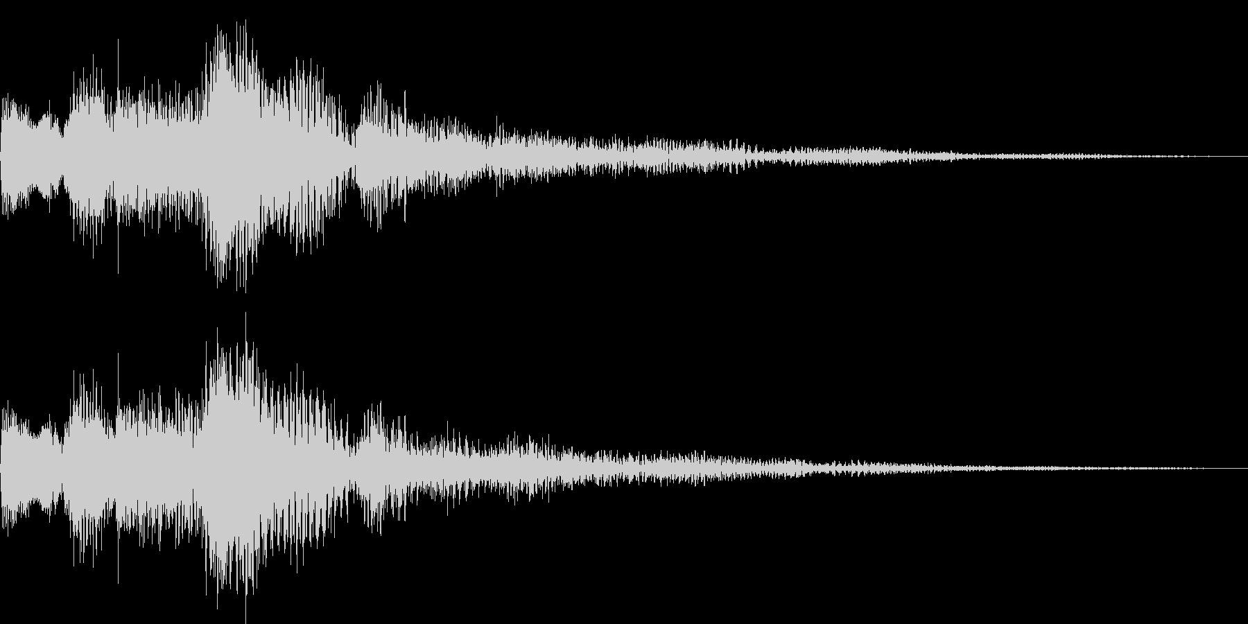 ジャラララン(決定、追加、キャンセル)の未再生の波形