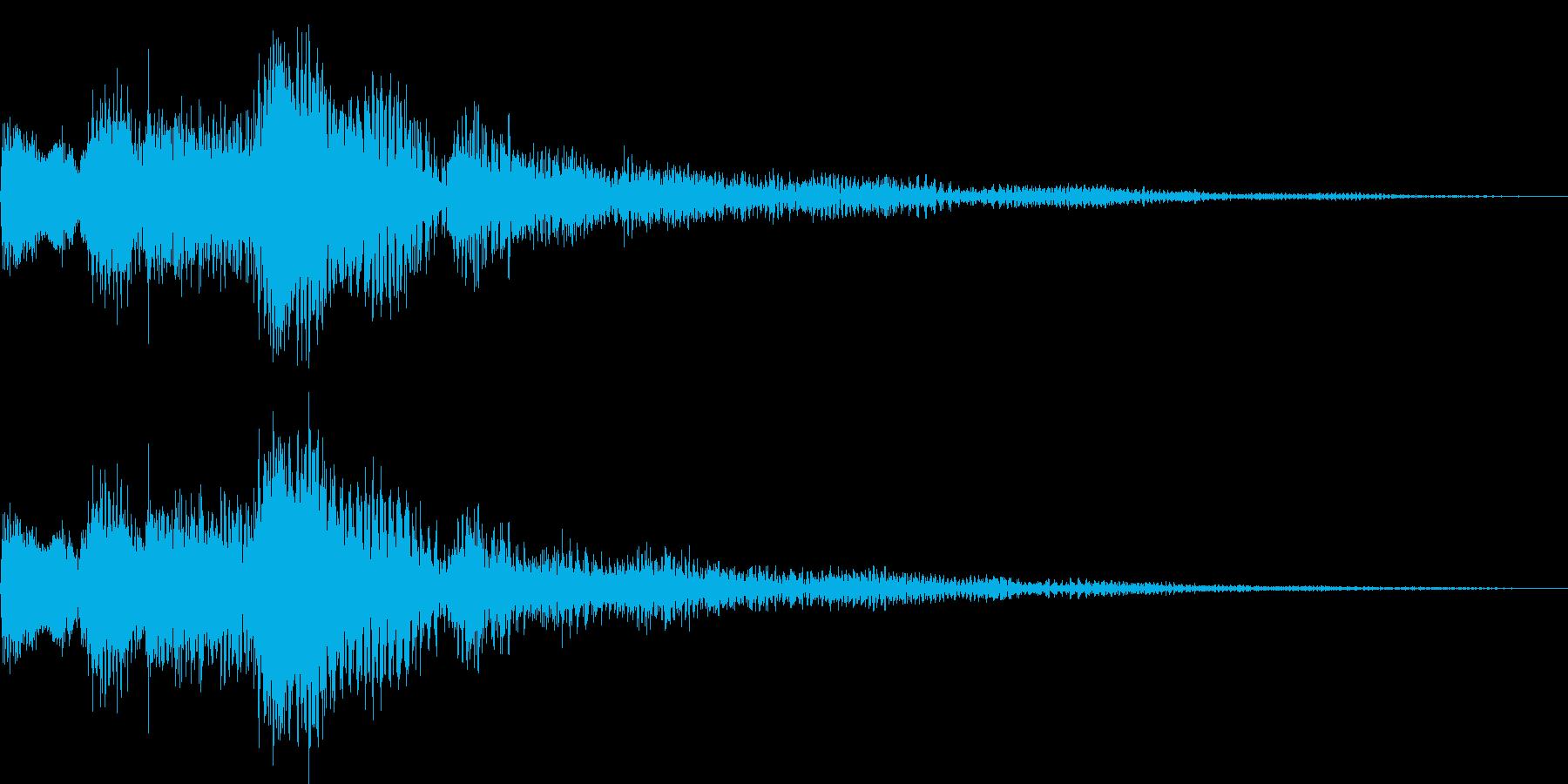 ジャラララン(決定、追加、キャンセル)の再生済みの波形