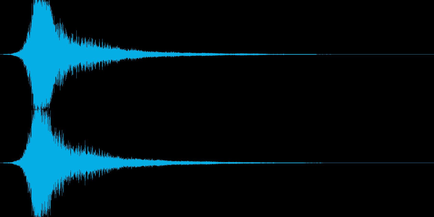 シャキーン 派手なインパクト音5の再生済みの波形