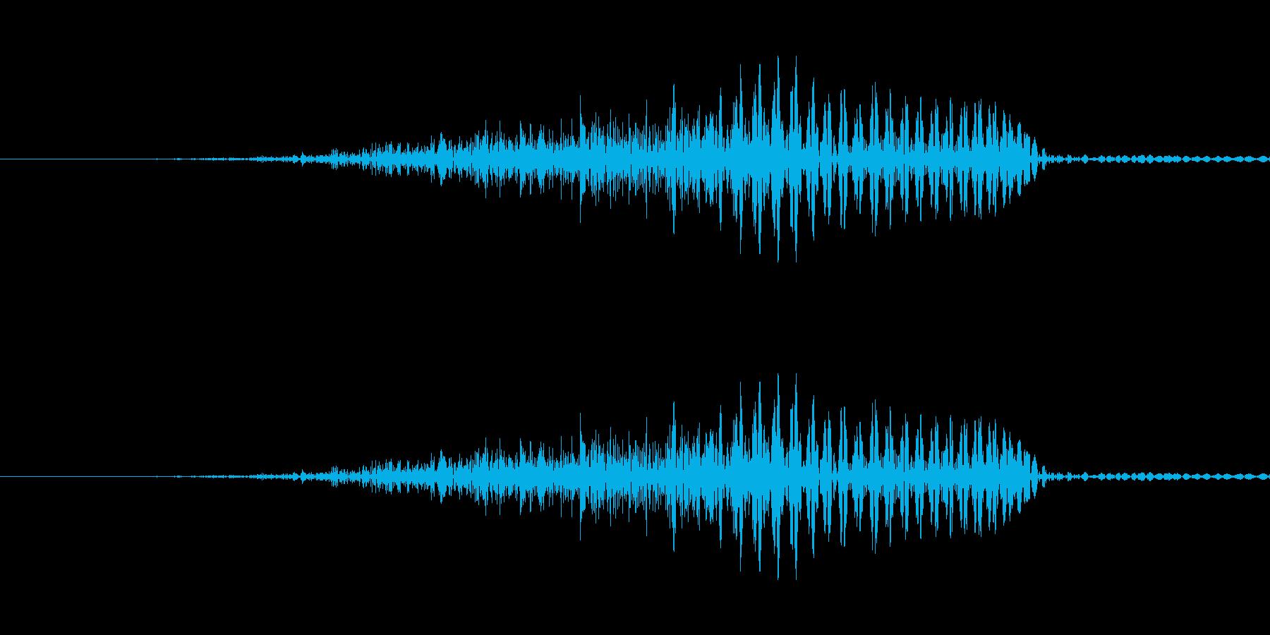 はっ!! - 男性和風掛け声の再生済みの波形