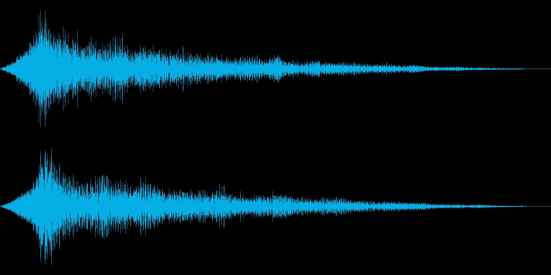ホラー系アタック音115の再生済みの波形