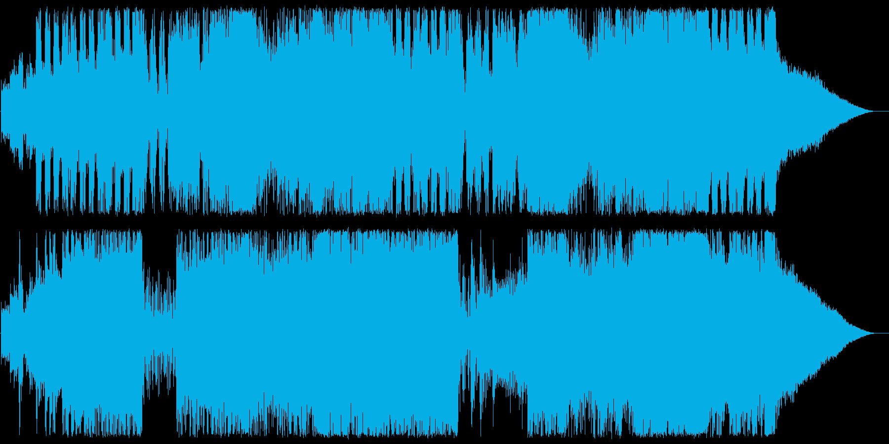 アップテンポでスピーディーなテクノビートの再生済みの波形