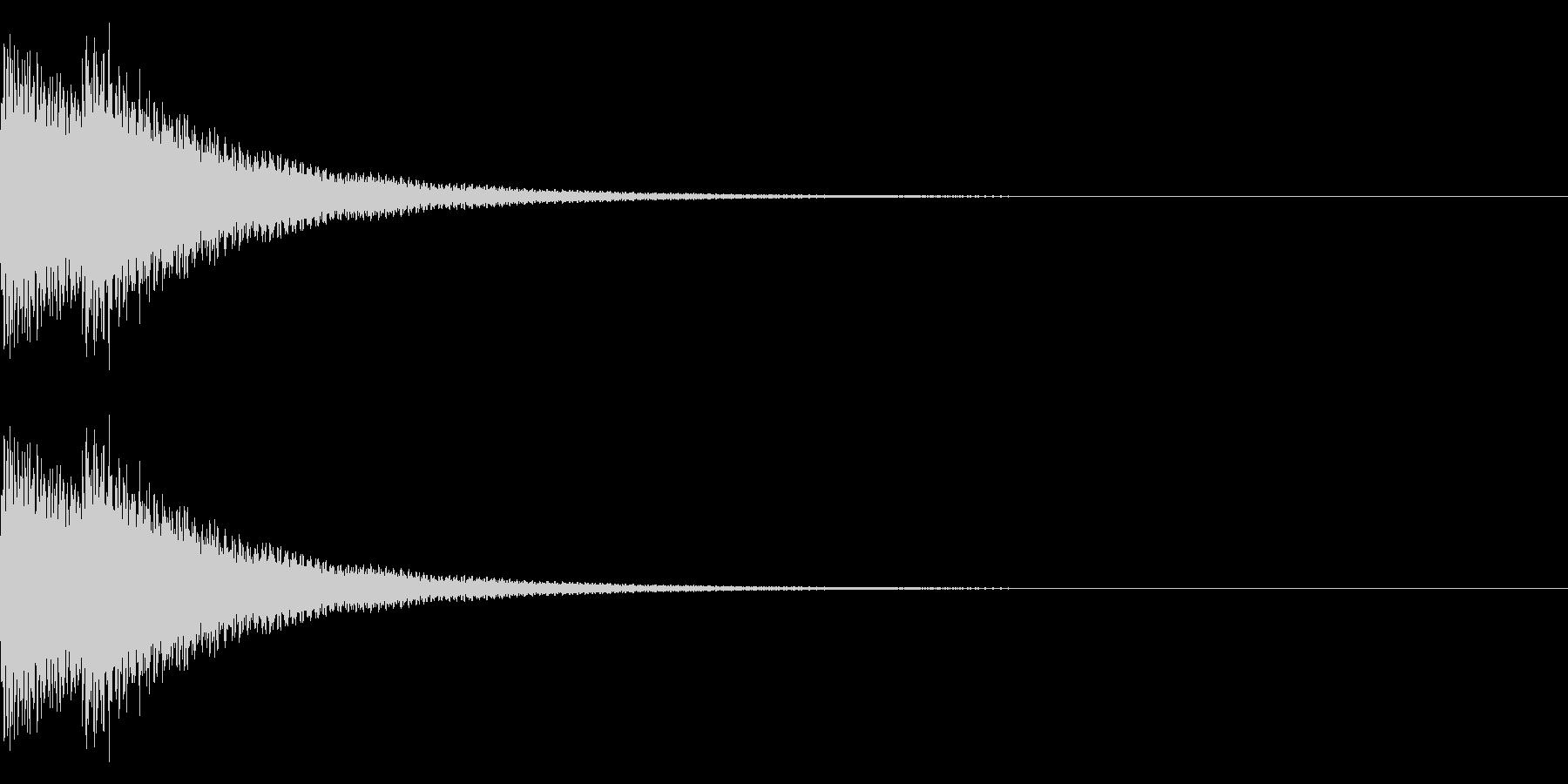 FM音源で作ったベル音の未再生の波形