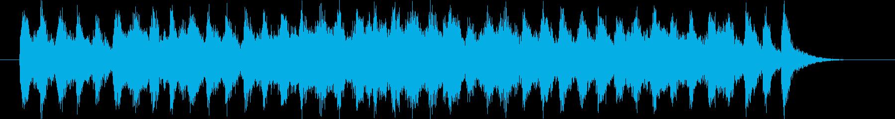 明るくわくわく感バイオリンシンセサウンドの再生済みの波形