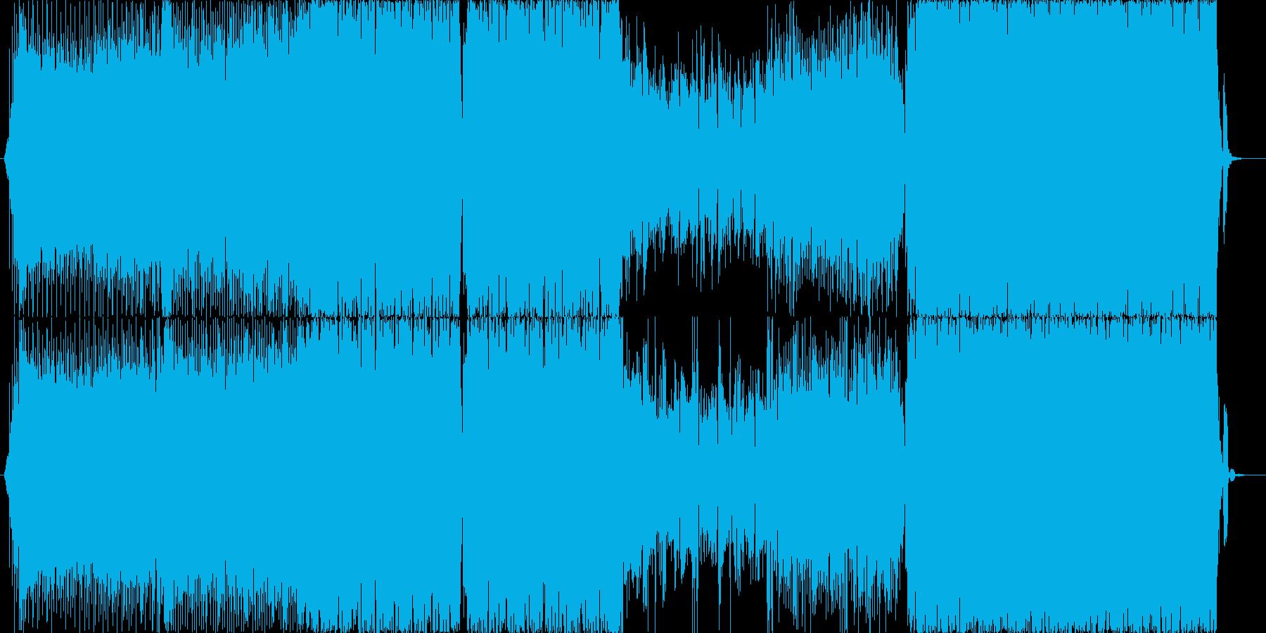 バブルなイメージのジュリアナ風テクノですの再生済みの波形