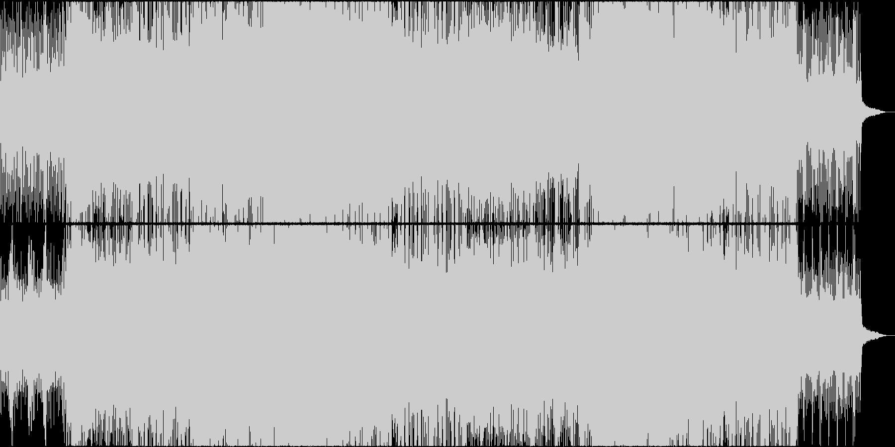 尺八、琴、和太鼓の疾走感のある和風ロックの未再生の波形