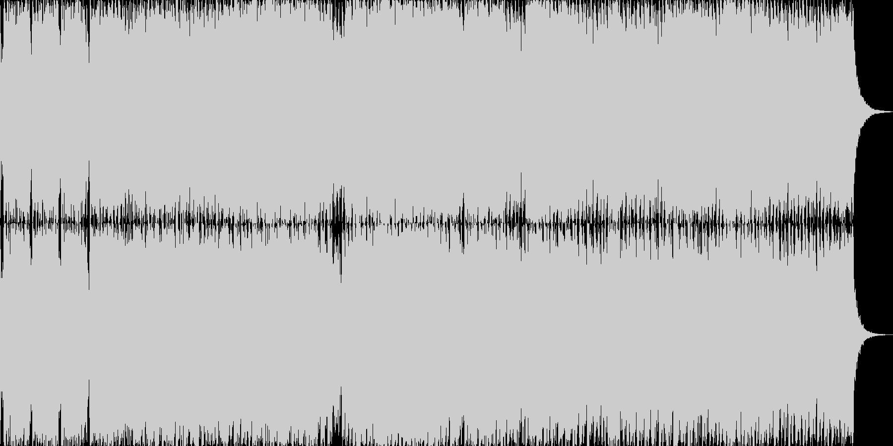 スピード感のあるオープニング曲ですの未再生の波形