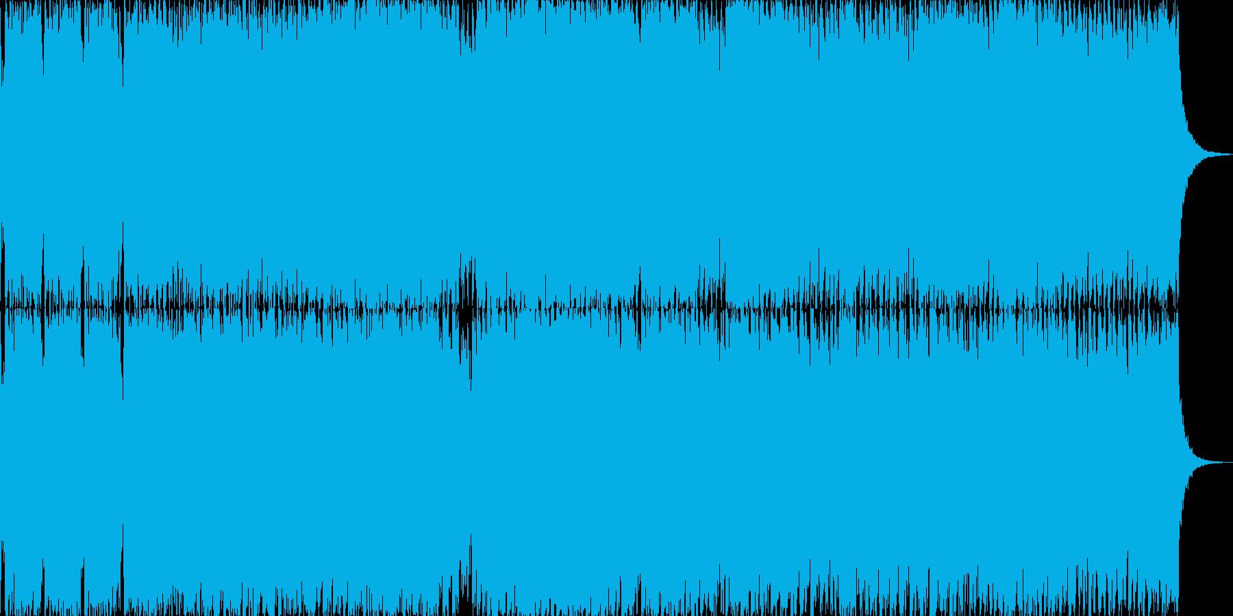 スピード感のあるオープニング曲ですの再生済みの波形