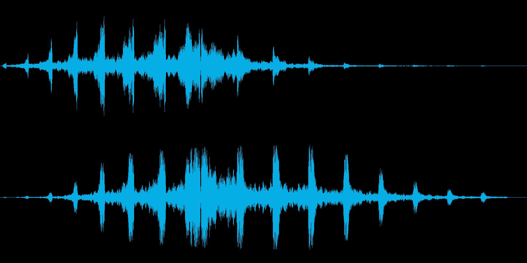 キキキ(回転系の音)の再生済みの波形