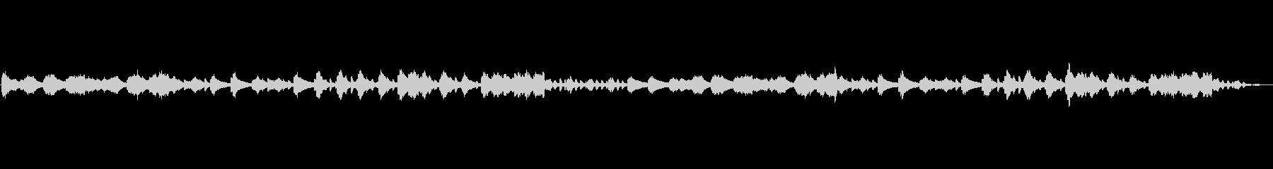 ピアノでのゆったりとした空間を表現した曲の未再生の波形