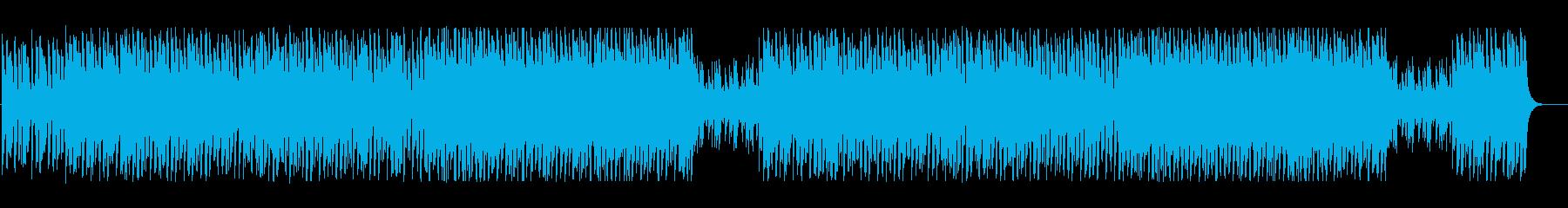緊迫感や迷いをイメージしたテクノBGMの再生済みの波形