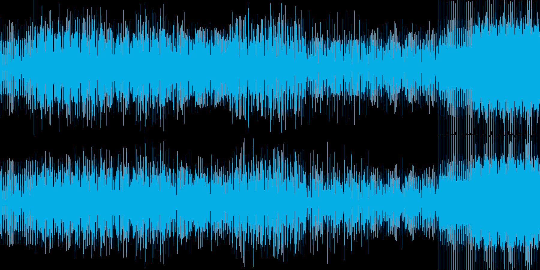 ベースメインのディープハウスの再生済みの波形