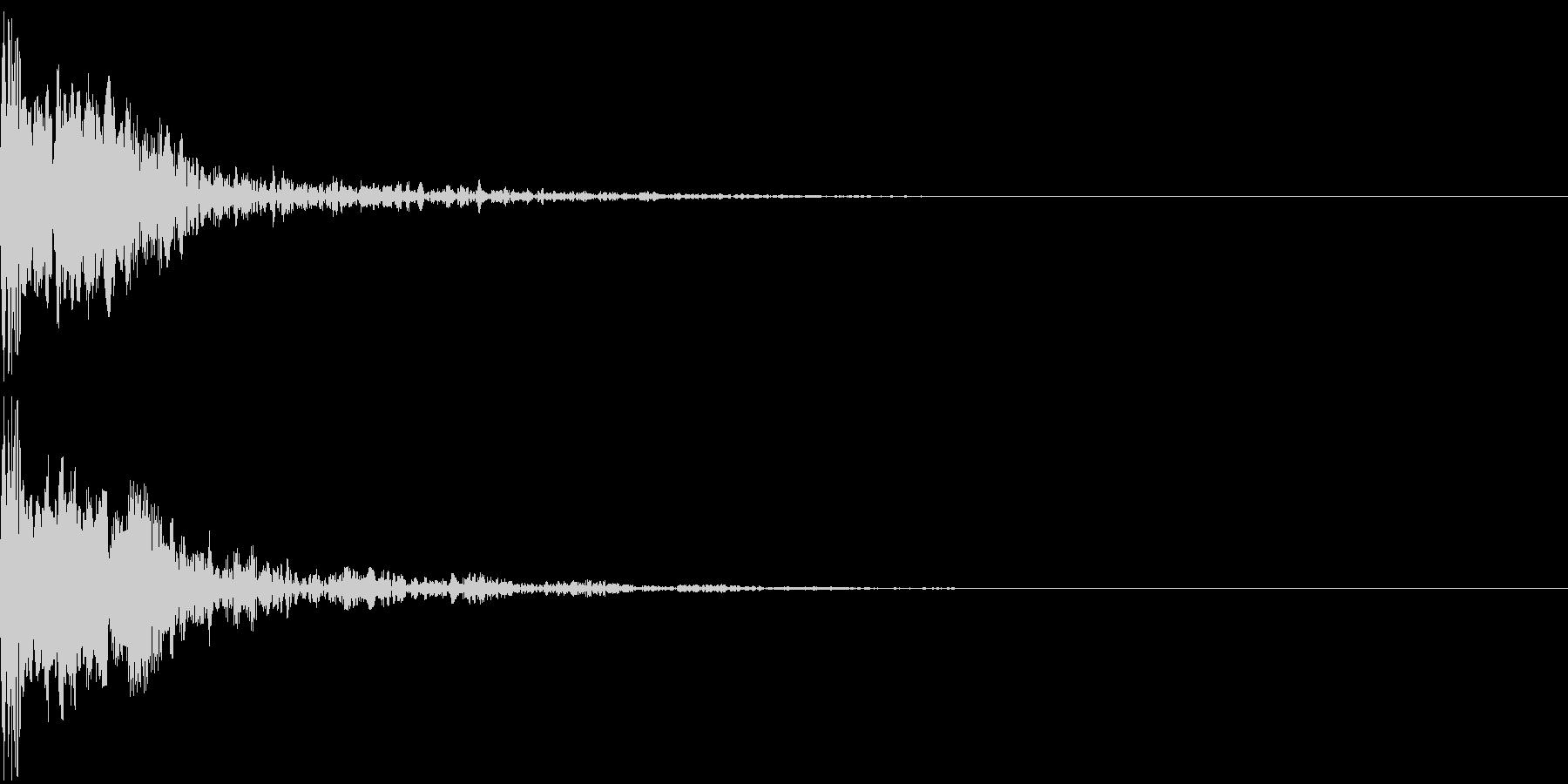 シネマチックな重低音インパクト3・ブーンの未再生の波形