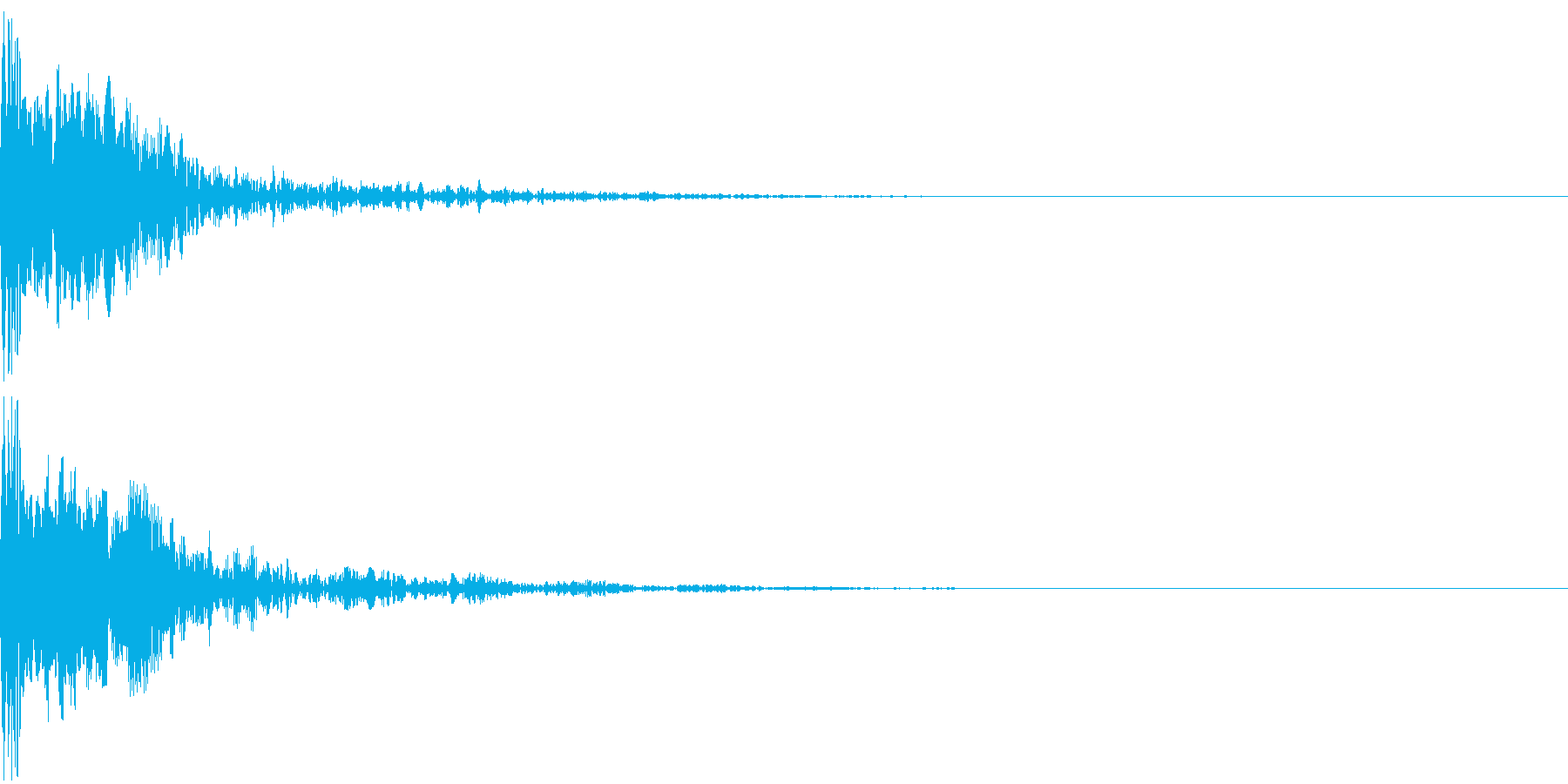 シネマチックな重低音インパクト3・ブーンの再生済みの波形