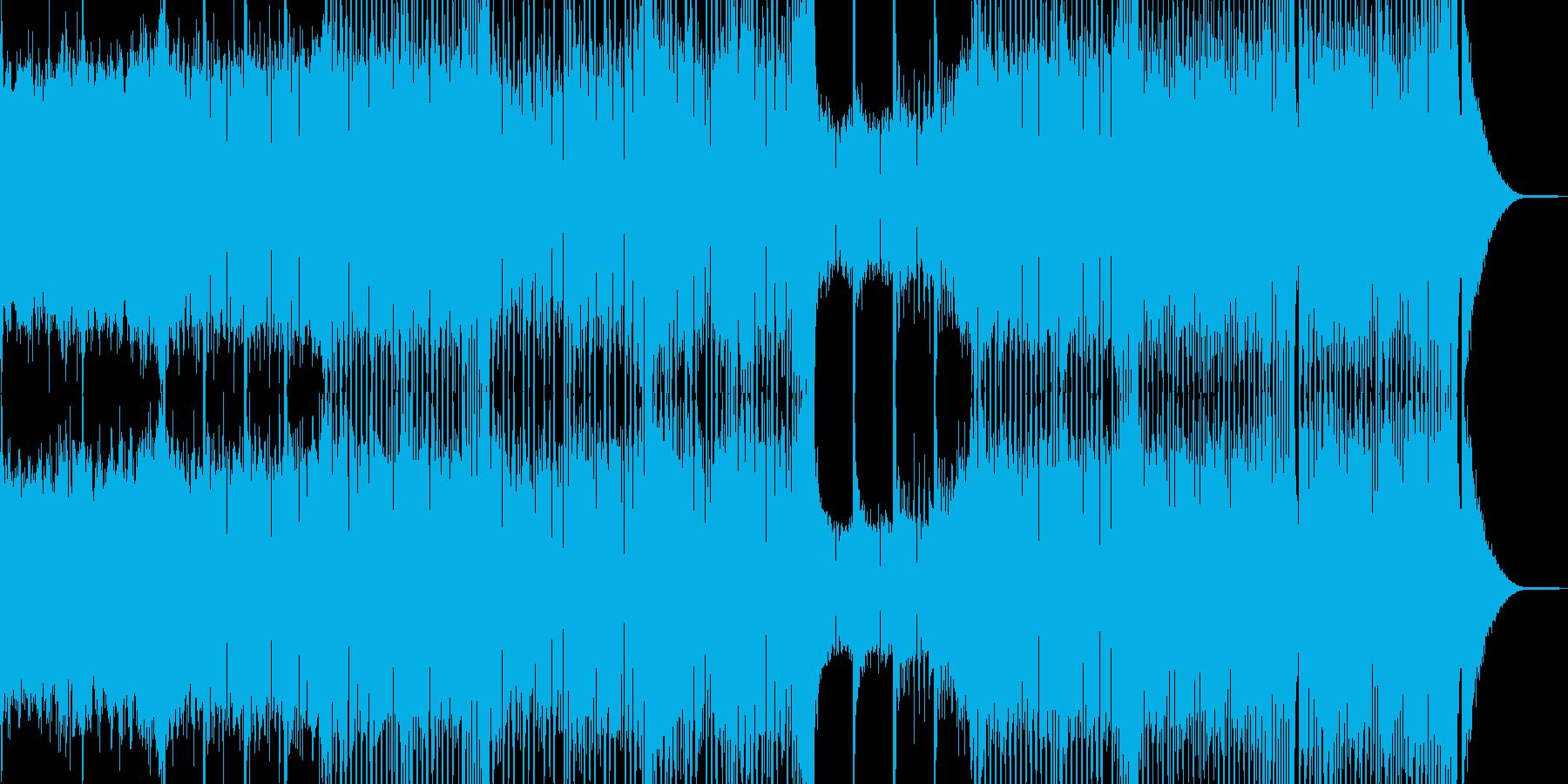 活気と元気が溢れるEDMの再生済みの波形