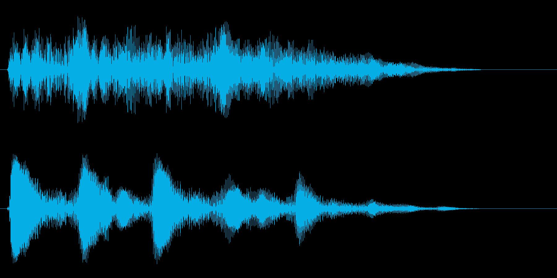 ポポポポポ〜ン(連打音)の再生済みの波形