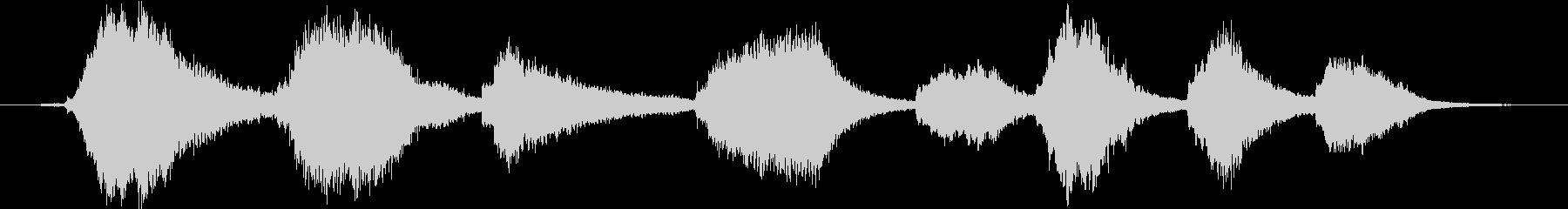 弦の振動を生かした残響アンビエントの未再生の波形