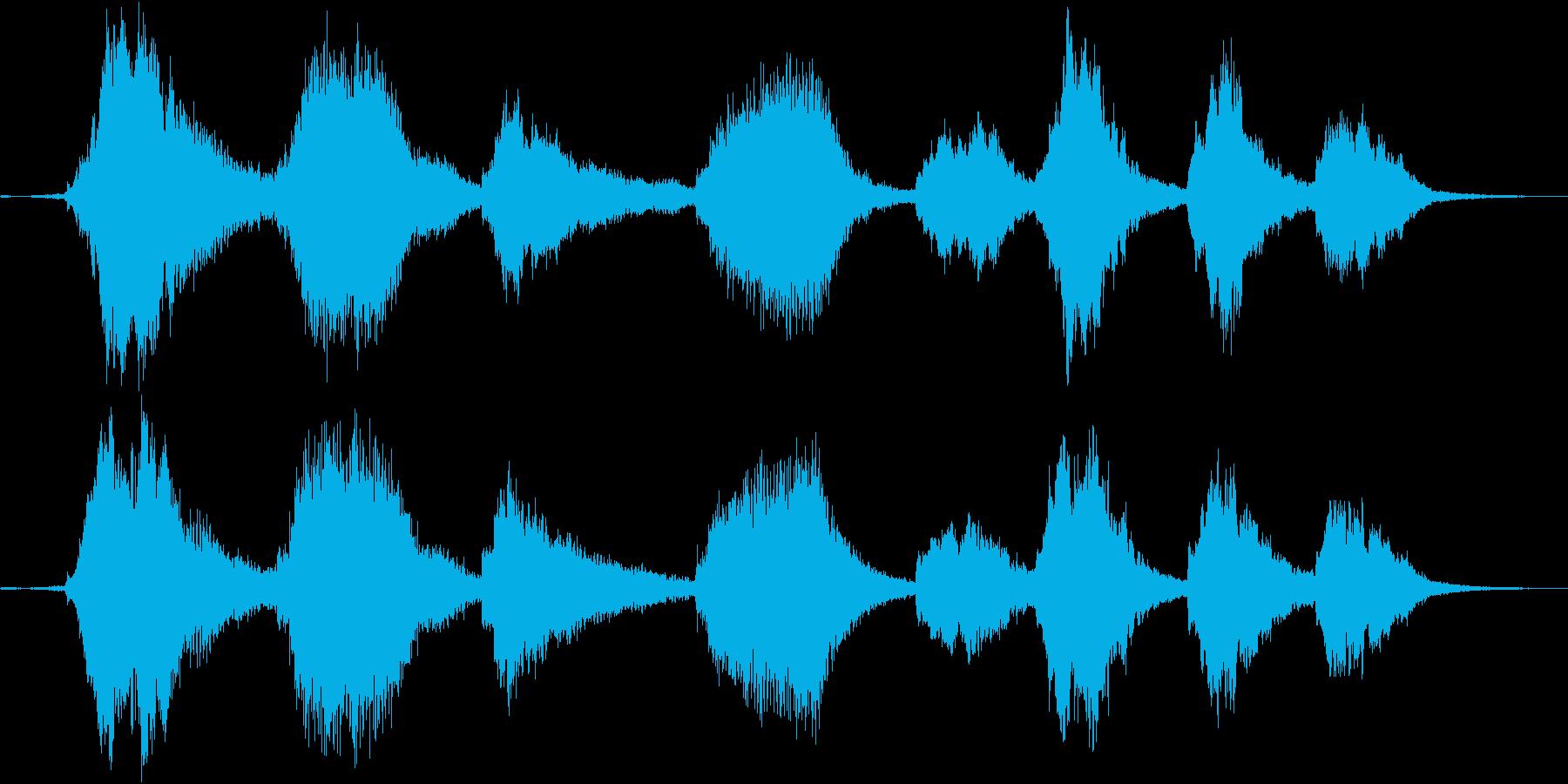 弦の振動を生かした残響アンビエントの再生済みの波形