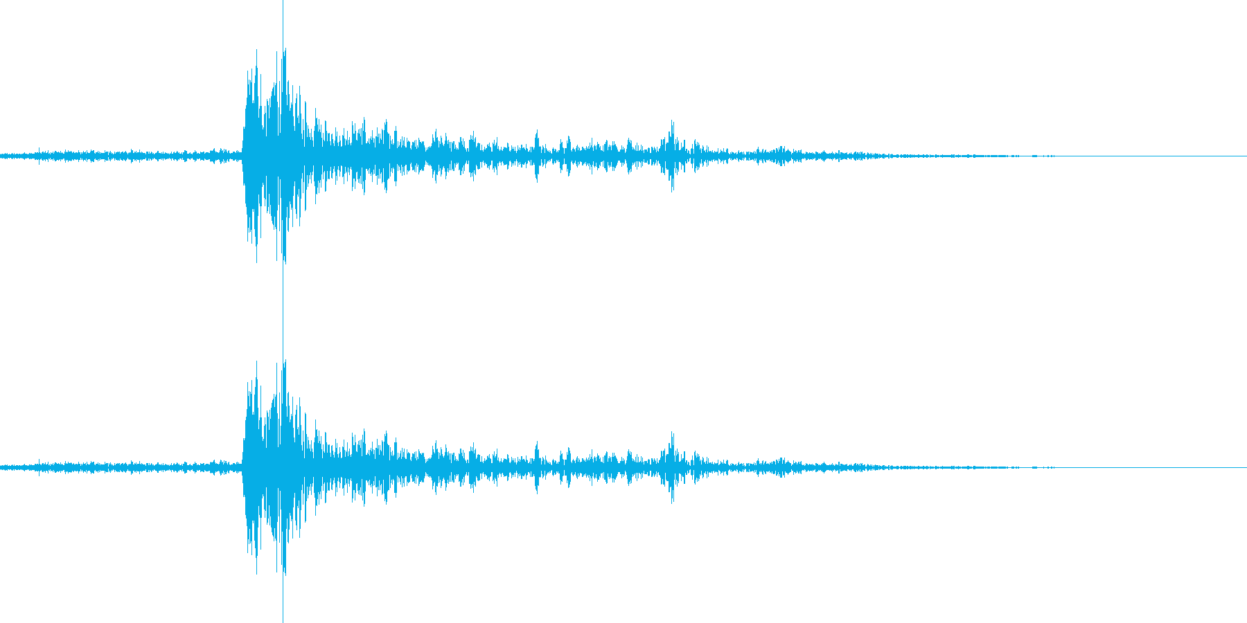 雷の音の再生済みの波形