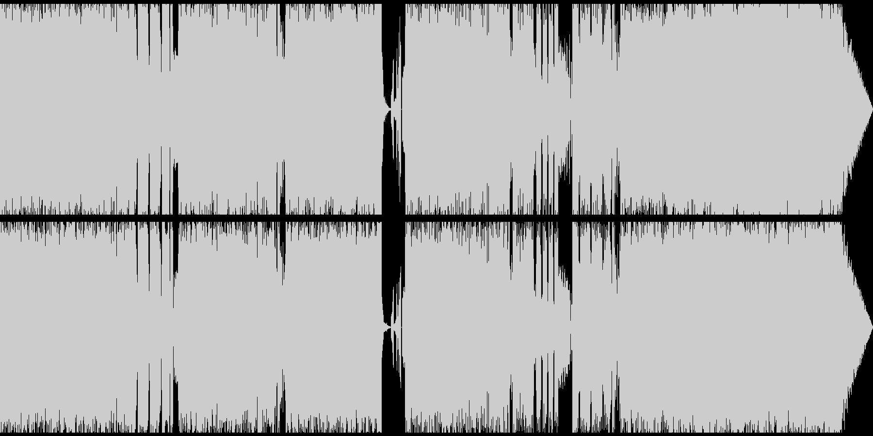 ノイジーなオルタナミディアムロックの未再生の波形