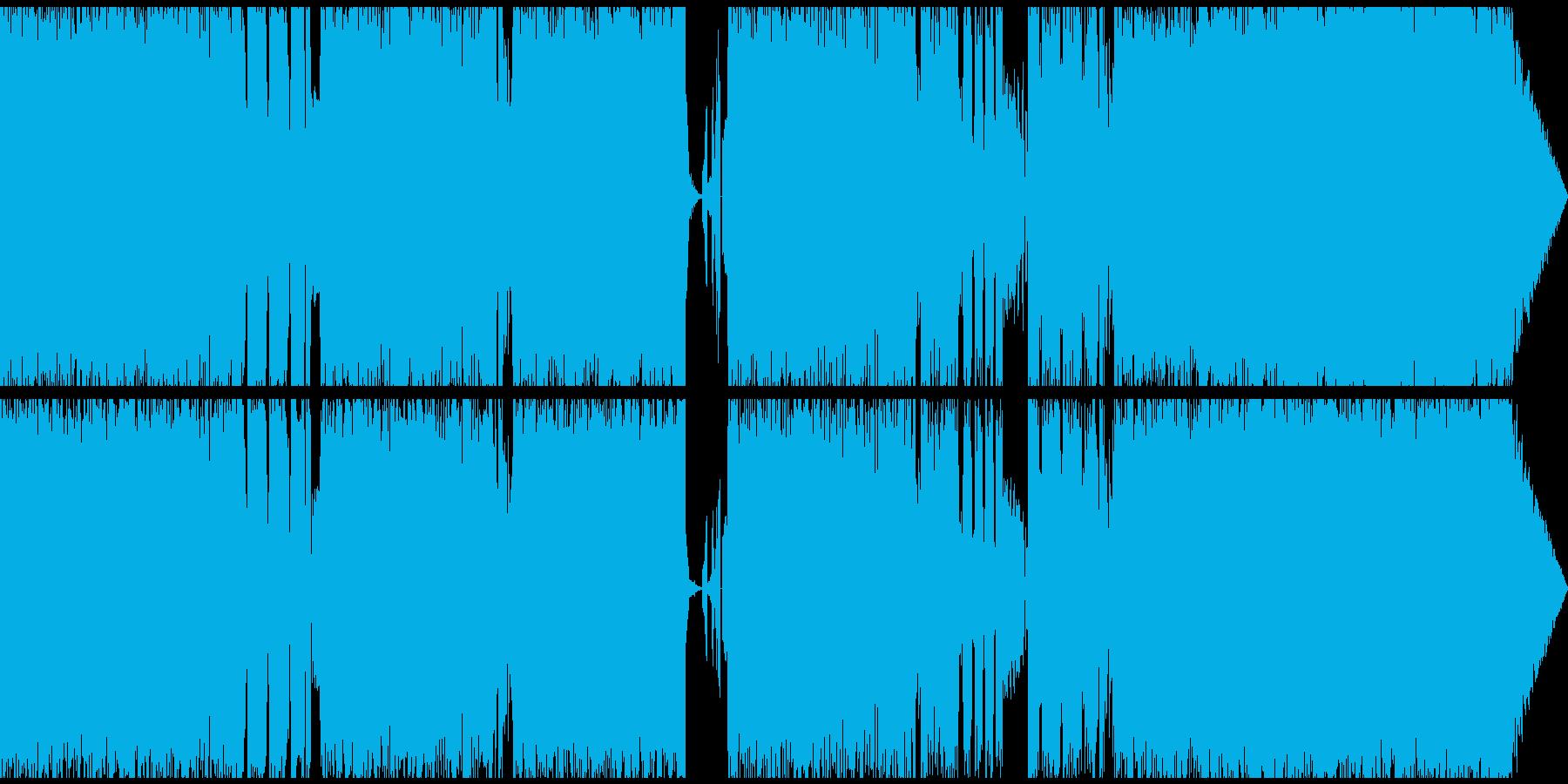ノイジーなオルタナミディアムロックの再生済みの波形