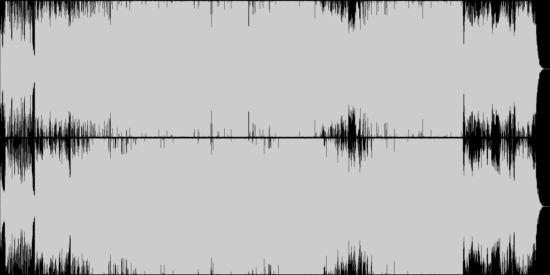 二胡(生演奏) 愁いと疾走感のある曲の未再生の波形